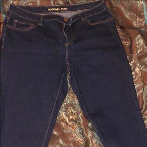 Michael Kors dark denim jeans.